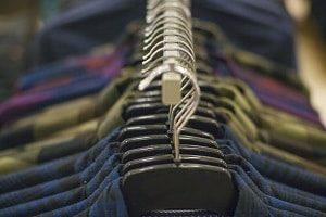 Hanging Shirts for Retail Display