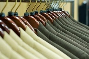Hanging Suit Jackets for Retail Display