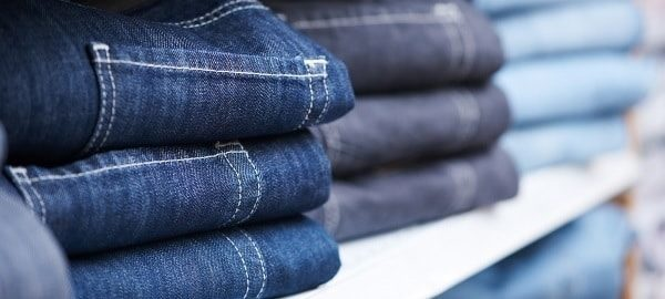 Removing bad odours from jeans