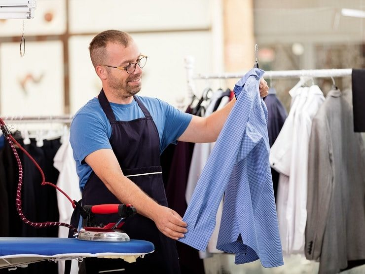 Ironing Shirts Garment Processing