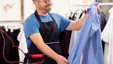 Ironing Shirts for Retail Display
